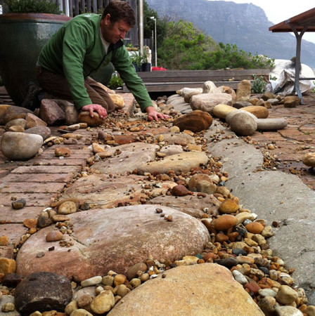 Rob cleaning the sea and stormwater drain