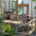 Visitors in the bunny enclosure thumbnail