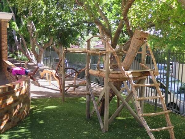 The completed jungle gym