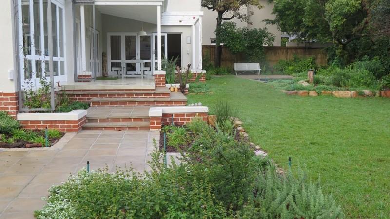 Entrance path and garden