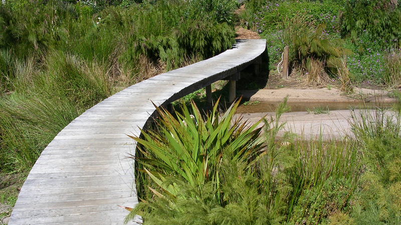 We love the way a functional boardwalk becomes a sculpture