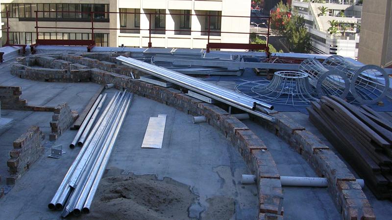 Roof garden structure