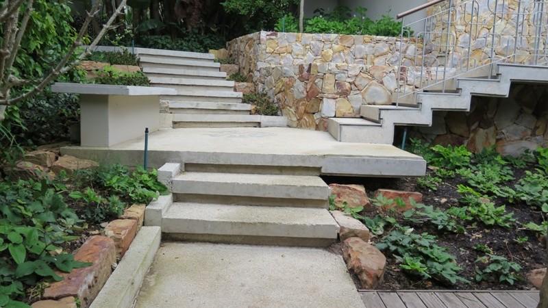 Concrete pathways meet