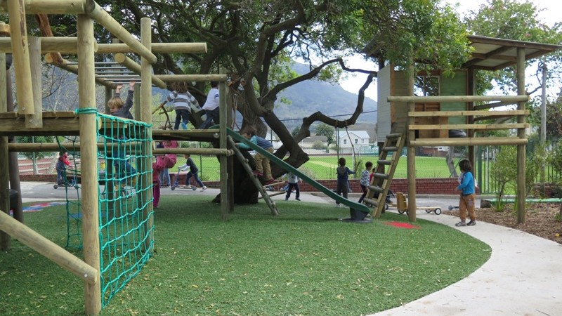It's difficult to beat synthetic turf in a busy playground environment