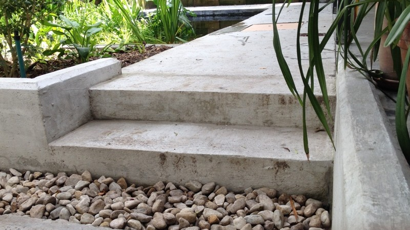 Concrete stair detail